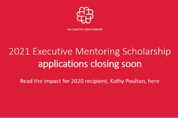 Not-for-profit organisation executive benefits from mentoring scholarship
